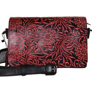 Кожаная сумка shinny red детали 1