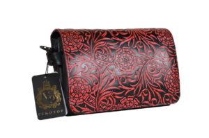 Кожаная сумка shinny red детали 3