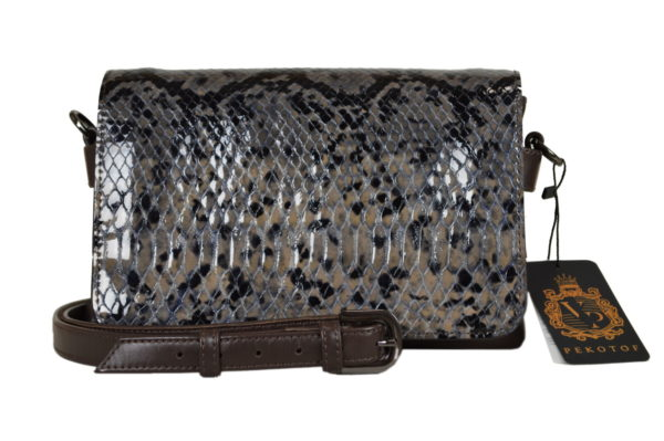 Кожаная сумка shinny snaky детали 1