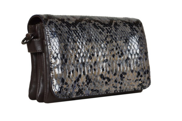 Кожаная сумка shinny snaky детали 2