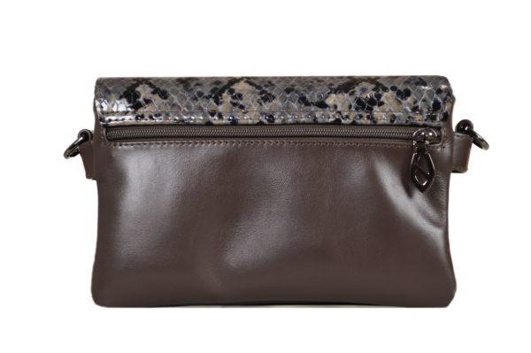 Кожаная сумка shinny snaky детали 4