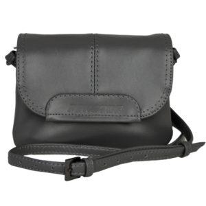 Кожаная женская сумка TRIPOLLY, антрацит детали 5