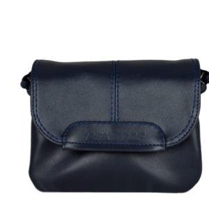 Кожаная женская сумка TRIPOLLY, синяя детали 1