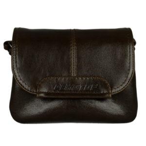 Кожаная женская сумка TRIPOLLY, коричневая 1