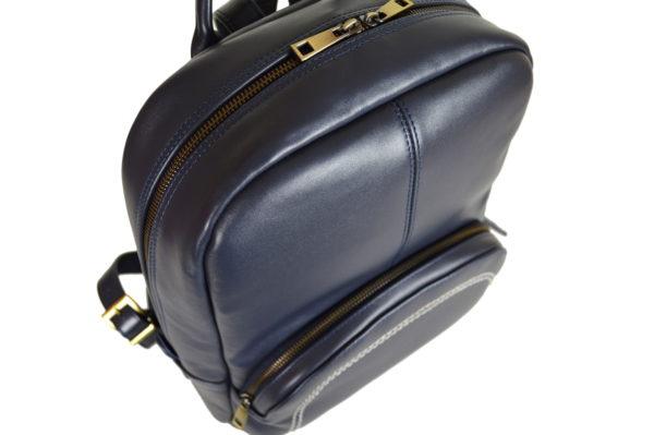 Кожаный рюкзак Viato Blue ф. 5