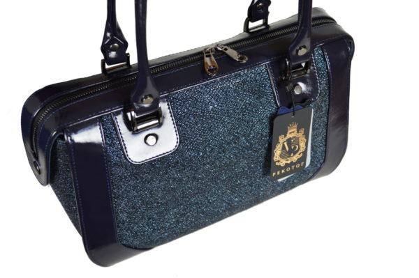 Кожаная сумка Yana Blue Pekotof ф 6