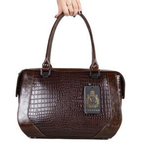 Кожаная сумка Yana Brown Pekotof ф. 1