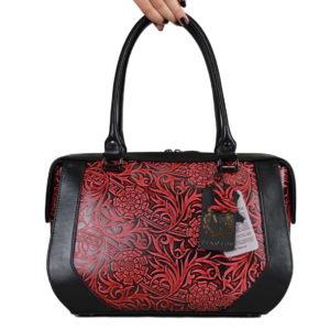 Кожаная сумка Yana Red ф. 1