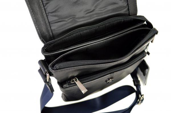 Кожаная сумка Volly Black,, деталі 3