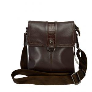 Кожаная мужская сумка Volly Браун