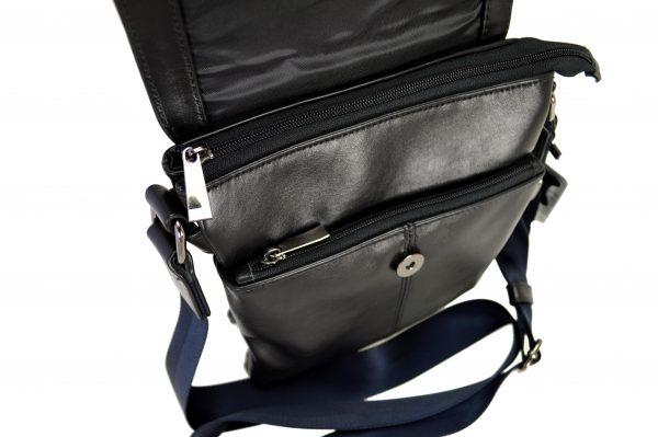 Кожаная сумка Volly Black,, деталі 4