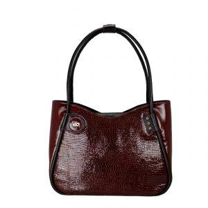 Женская кожаная сумка LIDIA Bordo