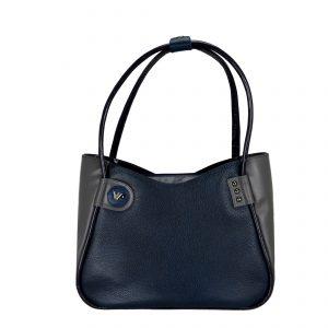 Женская кожаная сумка LIDIA Darkblue
